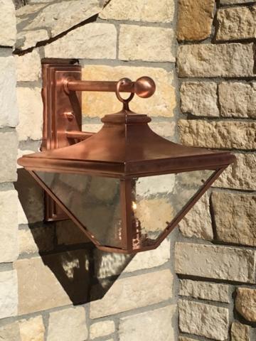 Roberts Iron Works - Copper Wall Lantern