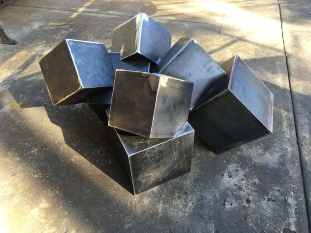 Roberts Iron Works Cube steel iron base