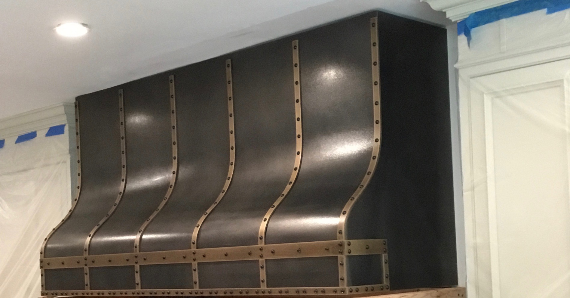 Roberts Iron Works - Steel and Brass Kitchen Hood