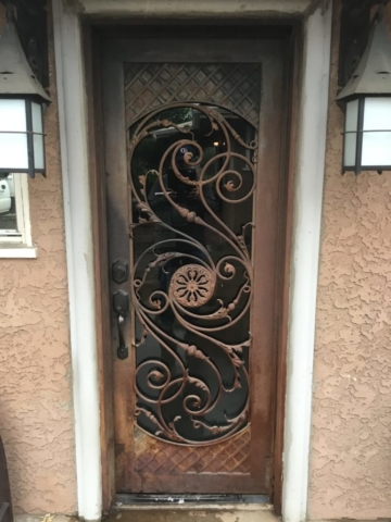 Roberts Iron Works - Hand forged door