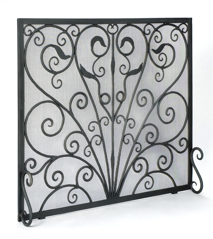 Roberts Iron Works Hand Forged Fireplace Screen D6