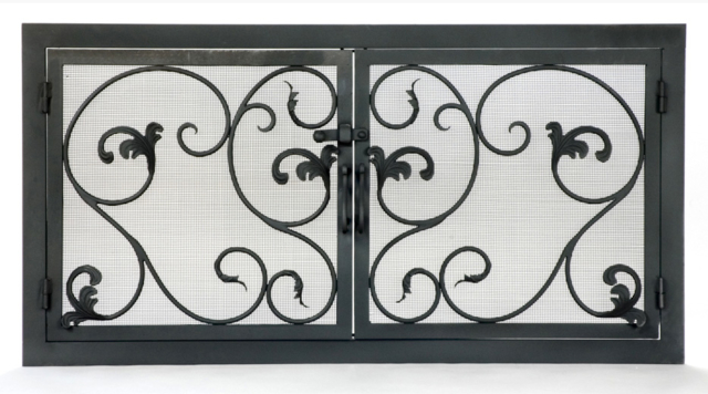 Roberts Iron Works - Hand Forged Fireplace Screen D1