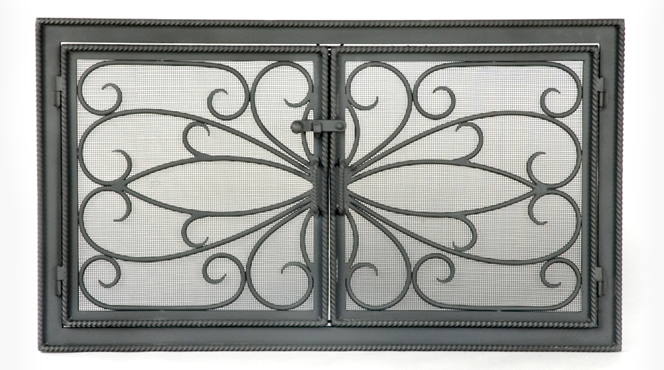 Roberts Iron Works - Hand Forged Fireplace Screen D2