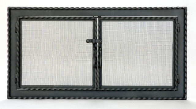 Roberts Iron Works - Hand Forged Fireplace Screen D3