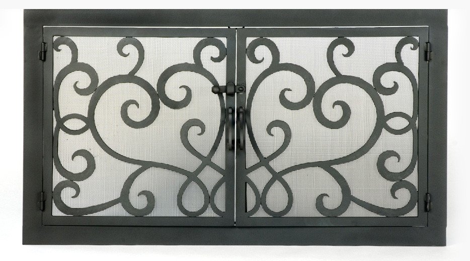 Roberts Iron Works - Hand Forged Fireplace Screen D5