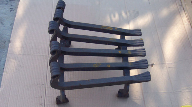 Roberts Iron Works - Hand Forged Fireplace Grate D6