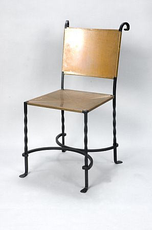 Roberts Iron Works - Hand Forged Copper/Iron Chair D2