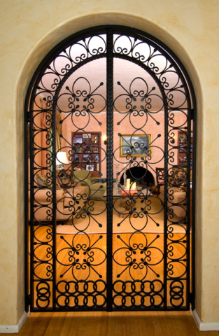 Roberts Iron Works - Hand Forged Iron Doors D1
