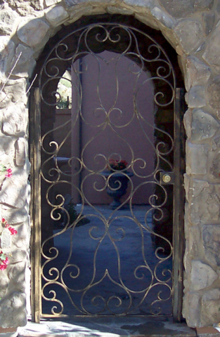 Roberts Iron Works - Hand Forged Iron Doors D3