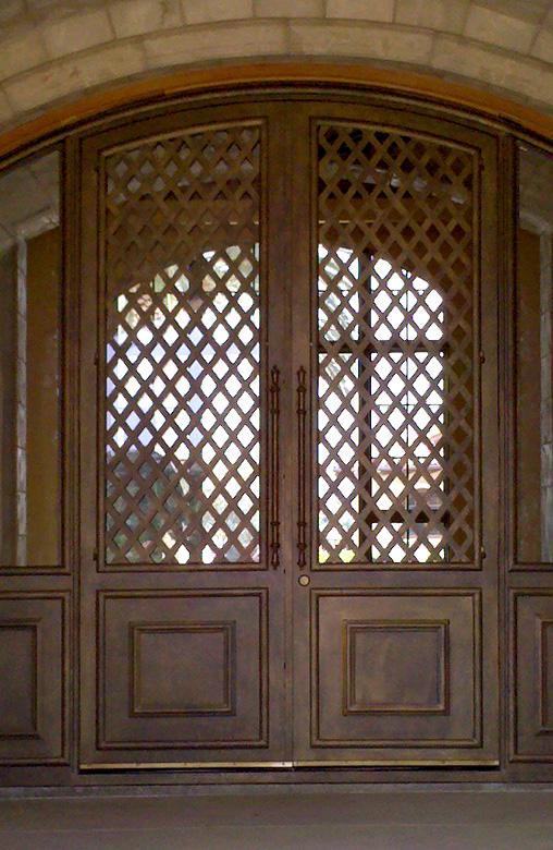 Roberts Iron Works - Custom Lattice Iron Doors D4
