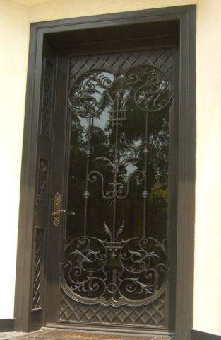 Roberts Iron Works - Hand Forged Iron Doors D5