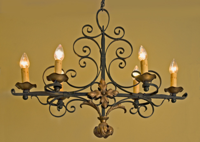Roberts Iron Works - Hand Forged Iron Chandelier D10