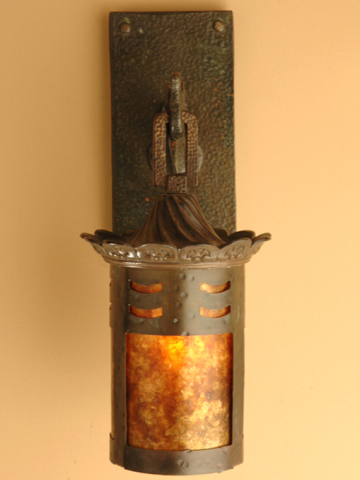 Roberts Iron Works - Hand Crafted Bronze Lighting Fixture D7