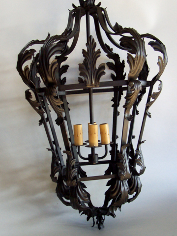 Roberts Iron Works - Hand Crafted Steel Lighting Fixture D6
