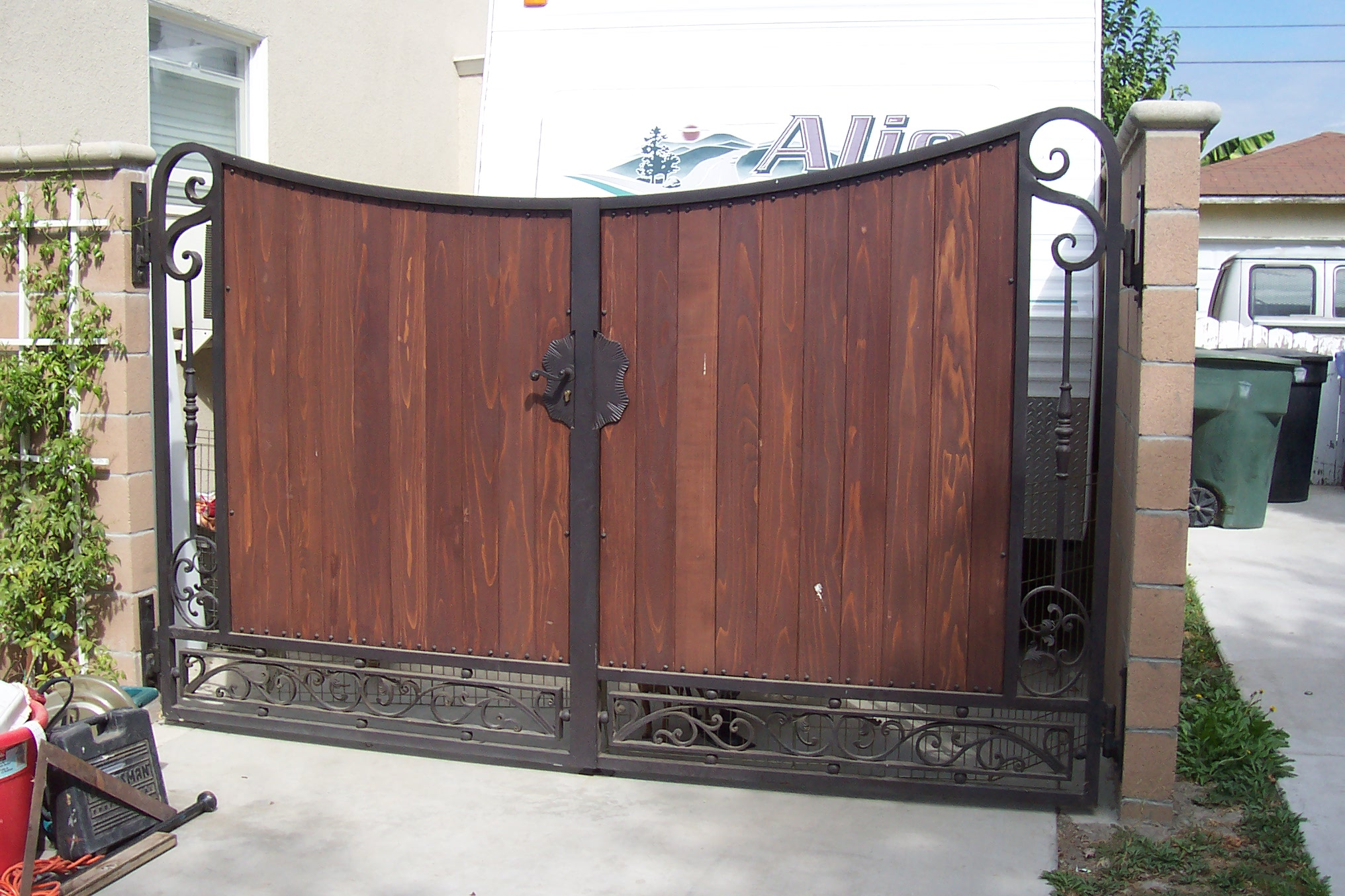Roberts Iron Works  Iron and Wood gate