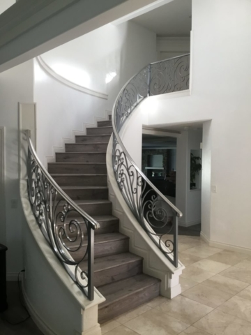 Roberts Iron Works - Scroll Stair Railing