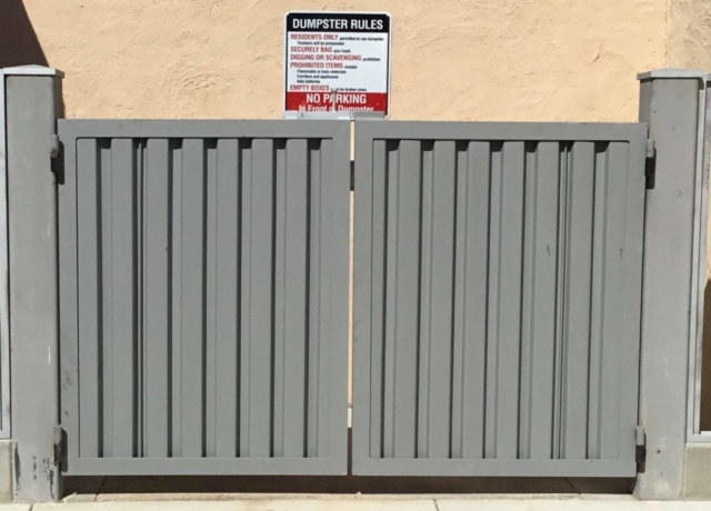 Roberts iron Works - Steel trash Enclosure